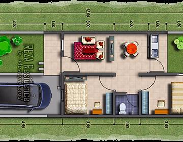 layout rumah RR 2